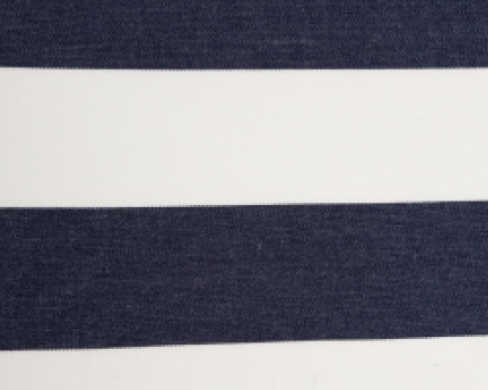 Windscherm Avalo in Dralon streep kleur Marine Blauw