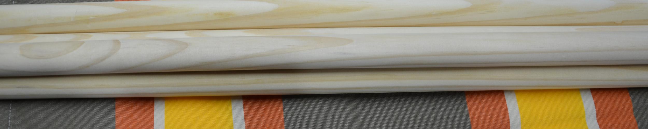 Windscherm Bruin/Oranje/Geel 3,80 meter stockactie nummer 207