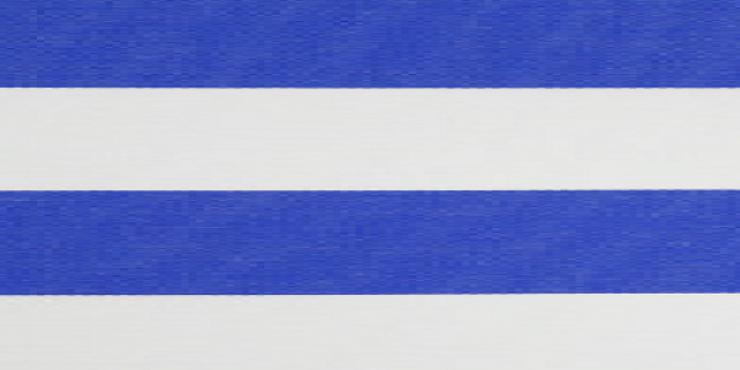 4 meter tuinscherm kobaltblauw/wit, artikel nummer 63234