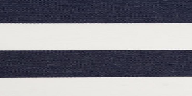 4 meter tuinscherm marineblauw/wit, artikel nummer 63134