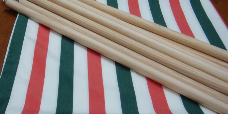 Windscherm Groen/Wit/Roze 3 meter, Stockactie nummer 50