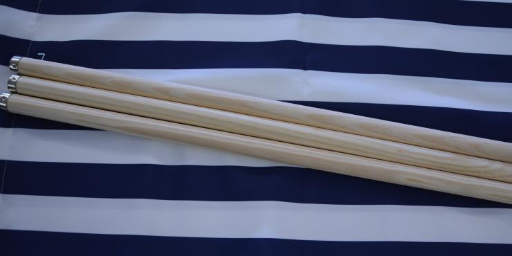 Windscherm Blauw/Wit 4 meter, Stockactie nummer