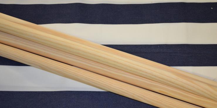 Windscherm Blauw/wit 5 meter, stockactie nummer