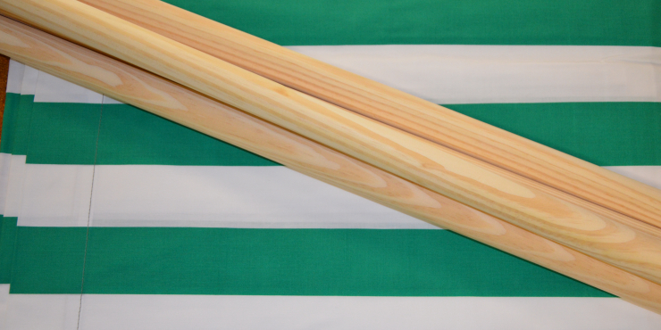Windscherm Groen/Wit 4 meter, Stockactie nummer