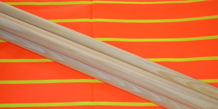 Windscherm Oranje/Geel fluo 3 meter, Stockactie nummer