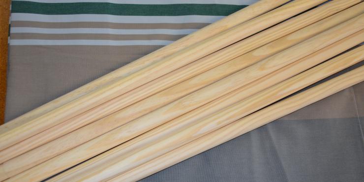 Windscherm Grijs/Groen/Beige 4 meter, stockactie nummer 116