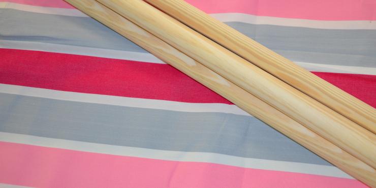 Windscherm Grijs/Roze/wit 7 meter, stockactie nummer