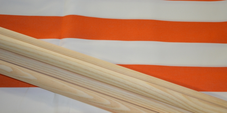 Windscherm Oranje/Wit 7 meter, stockactie nummer