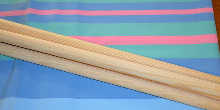 Windscherm Groen/Bauw/Roze 4 meter, stockactie nummer