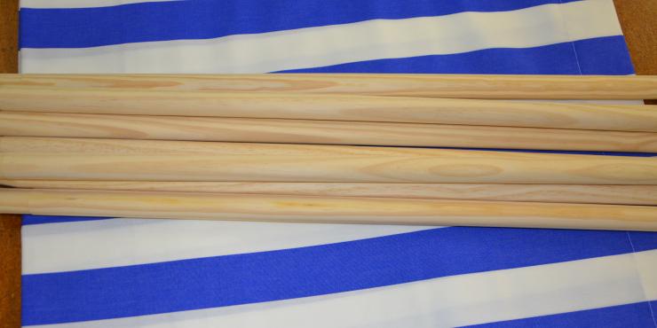 Windscherm Kobalt/Wit 4 meter Stockactie nummer 44