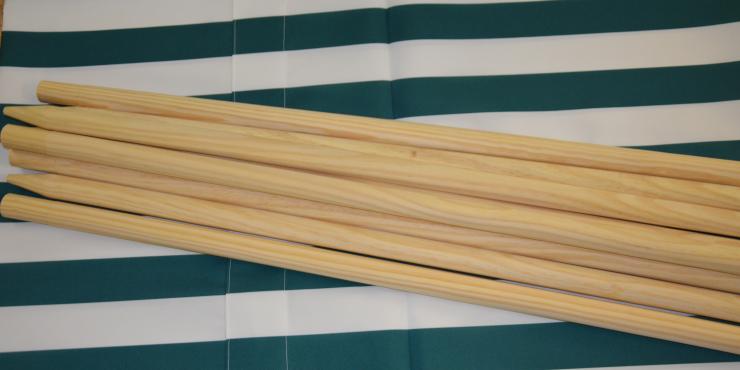 Windscherm Groen/Wit 4 meter, Stockactie nummer 70