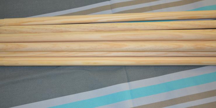 Windscherm Grijs/Taupe/Turquoise 6 meter, stockactie nummer 154