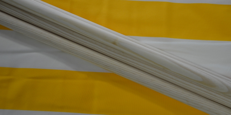Windscherm Geel/Wit 3 meter, stockactie nummer 58