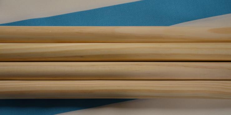 Windscherm Turquoise/Wit 4 meter, stockactie nummer 45