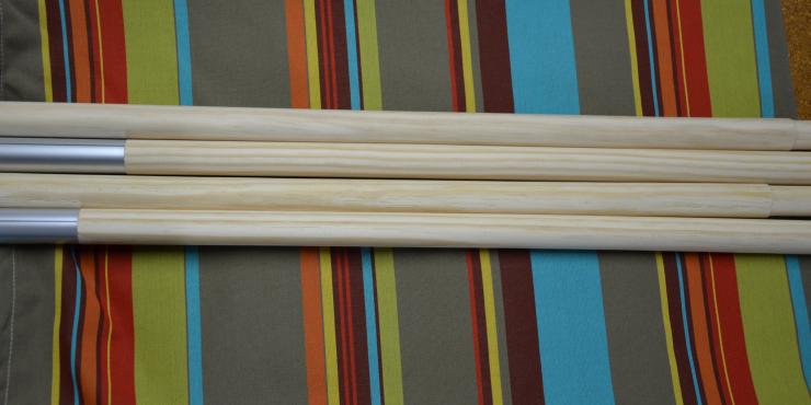 Windscherm Multicolor 4 meter, Stockactie nummer 160