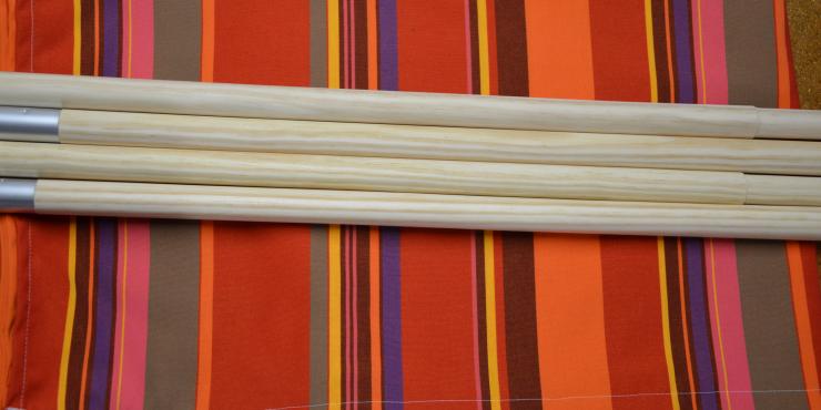 Windscherm Multicolor 4 meter, Stockactie nummer 161