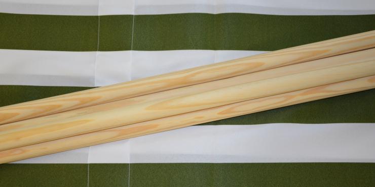 Windscherm Groen wit 4 meter, Stockactie nummer 109