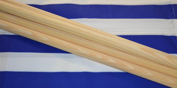 Windscherm Kobalt Blauw/Wit 6 meter , stockactie nummer 113